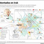 Más de 70 muertos deja ola de explosiones en Bagdad