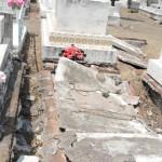 Tumbas abandonadas en el Panteón Municipal
