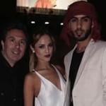 Eiza González y él árabe guapo posando juntos