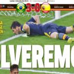 """Volveremos"": Prensa española ante triunfo carioca"