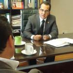 Jacobo se reúne con procurador de derechos Humanos