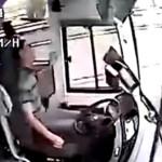 Impresionante video de accidente en autobús chino
