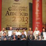 Miguel Márquez inaugura, el primer congreso matemático de las américas