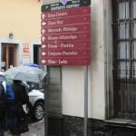 Cambio de señaletica,  previo al Festival Internacional Cervantino