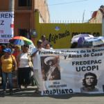 Nuevamente, ucopistas se manifiestan en la Cruz Roja de Irapuato; exigen destitución del titular