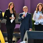 Héctor Sandarti y Galilea Montijo en la inauguración de HITO