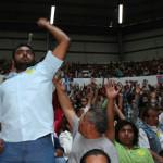 Entre abucheos y ausencia de AMLO, Morena logra asamblea en Guanajuato