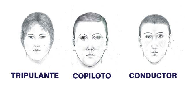 Retratos hablados de supuestos delincuentes