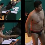 Diputado se desnuda en el debate de la reforma energética.