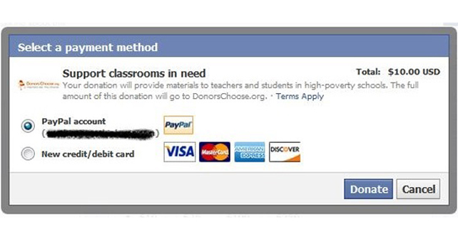 Photo of Facebook agrega botón para donaciones