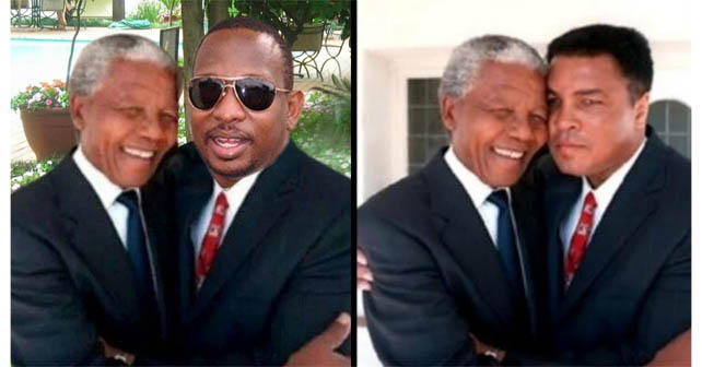 "Photo of Político keniano usa imagen ""photoshopeada"" con Mandela"