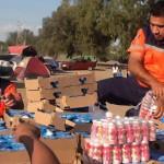 Ofrecen a peregrinos alimentos en su paso por Irapuato