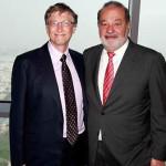 Crece fortuna millonaria de Bill Gates y Carlos Slim en 2013