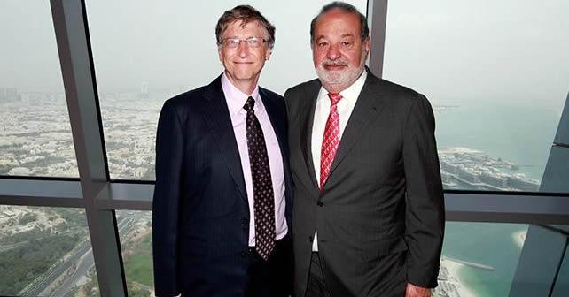 Photo of Crece fortuna millonaria de Bill Gates y Carlos Slim en 2013