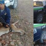 Policía mata a puma, lo presume en el Facebook