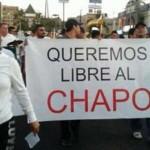¿Quién organizó las marchas a favor del Chapo?