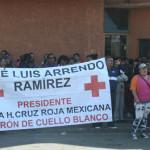 Ucopistas de nuevo se manifiestan en la Cruz Roja