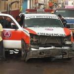 Socorristas de Protección lesionados en accidente