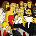 """""""Selfie"""" de los Simpsons al estilo de los OSCAR"""