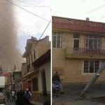 «Tornado» en Tangancícuaro, Michocán, cerca de 250 viviendas afectadas