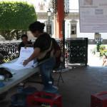 Ucopistas se emplantonan en el Centro Histórico