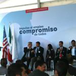 Márquez Márquez llega tarde al evento de inauguración de la ampliación en la empresa SRG