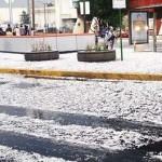 """""""Granizada"""" en la ciudad de México"""