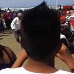 Se ahoga, cae de carrito y muere en playa Miramar (video)