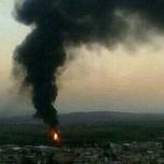 Controlan incendio en ducto de Pemex, ocasionado por una toma clandestina