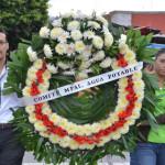 Depositan ofrenda floral en monumento a Padre de la Patria