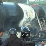 Trailero pierde la vida al chocar pipa contra el tren en Salamanca