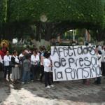 Manifestación de comuneros por conflicto de tierras