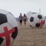 Balones de protesta en Copacabana