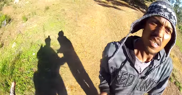 ciclista ladron gopro