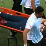 Por festejar un gol, se lesiona fisoterapeuta de Inglaterra