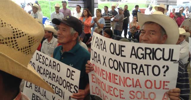 Photo of Productores se manifiestan en Abasolo; piden mejores precio de granos