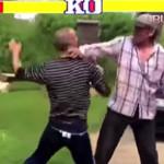 Rusos ebrios pelean al estilo Street Fighter