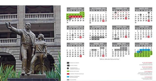 Calendario escolar SEG 2014-2015