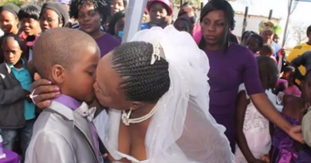 Photo of Niño de 9 años se casa con una mujer de 62 en Sudáfrica