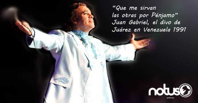 Juan Gabriel se presentó en Venezuela en el año 1991
