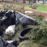 """""""Hoy si van a pasar por la basura"""" en el parque de La Pradera"""
