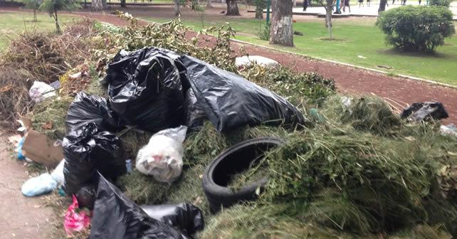 """Photo of """"Hoy si van a pasar por la basura"""" en el parque de La Pradera"""