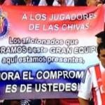 """""""Los aficionados… aquí estamos presentes, ¡Ahora el compromiso es de ustedes!""""; Chivas"""