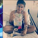 """Karla padece leucemia, pero su humor se contagia """"es el alma de la fiesta"""""""