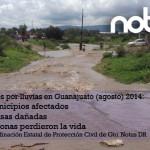 Afectaciones de lluvias en Guanajuato: muertos, casas y municipios