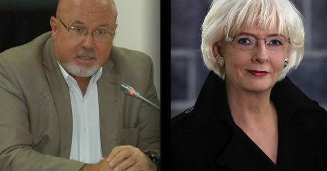 Izquierda: Carlos Bruce, congresista del Perú | Derecha: Johanna Sigurdardottir, primera ministra de Islandia