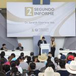 Sin regidores panistas y una manifestación, presentan informe en Cuerámaro