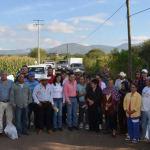Realizan recorrido de supervisión de obra en camino a San Bernardo