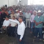 Toma protesta nuevo dirigente de la CNC; alcalde y diputado ni se hablan
