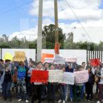 Estudiantes de la UG marchan en apoyo a normalistas de Ayotzinapa